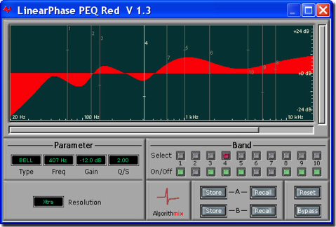 Eq linear phase PEQ red